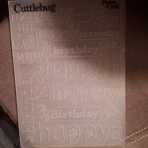 CuttleBug - Birthday - Die Cut